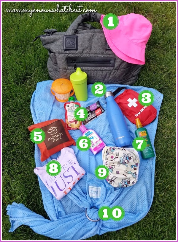 summer diaper bag essentials list