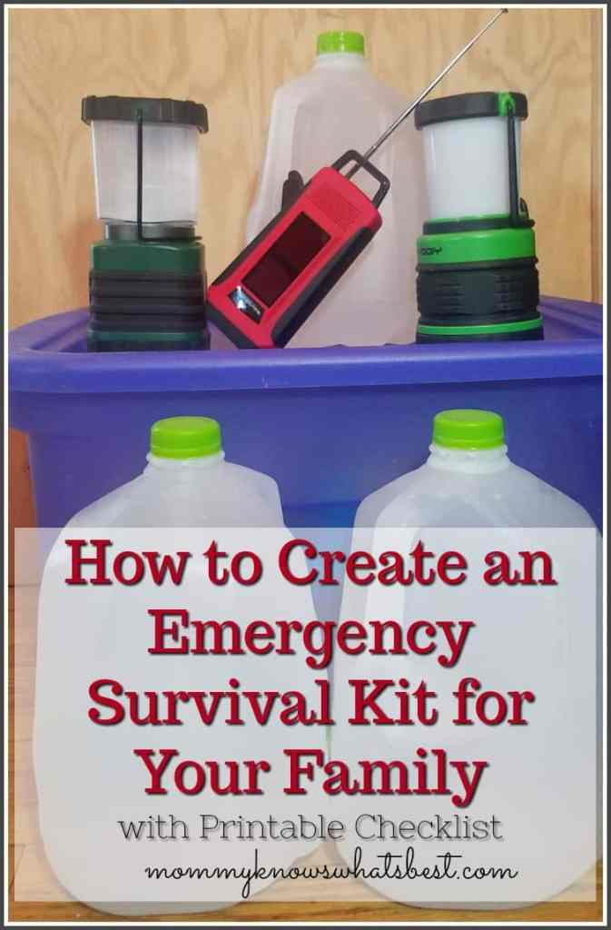 How to Create an Emergency Survival Kit for Your Family