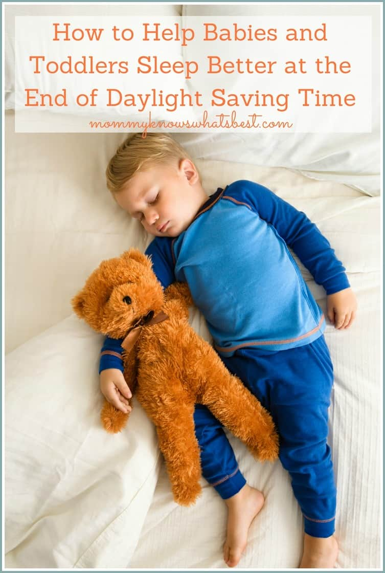 How to Help Babies and Toddlers Sleep Better at the End of Daylight Saving Time