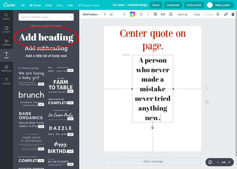 printable quotes tutorial