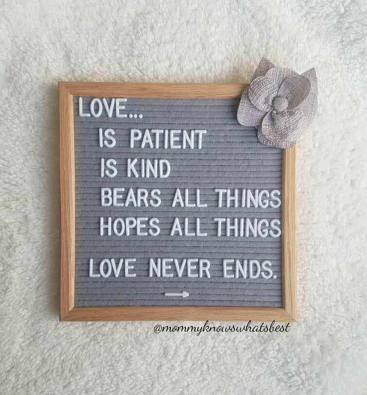 love is patient love is kind felt board