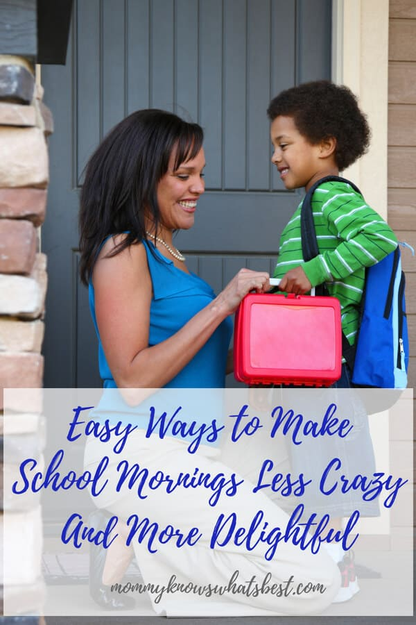 Update Your School Morning Routine! Easy Ways to Make School Mornings Less Crazy And More Delightful