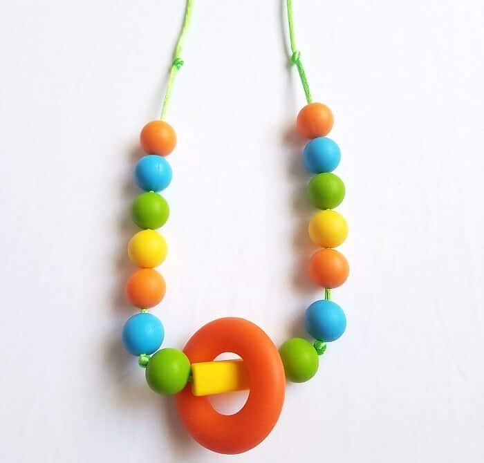 Fidget Necklace for Kids with Chewable Beads  Learn how to make one! 417f0876602