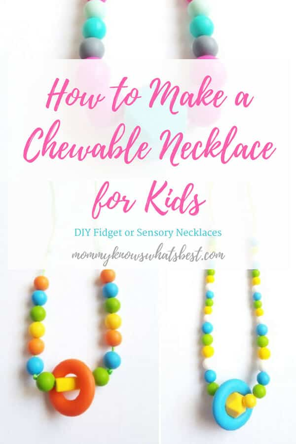 How to Make a Chewable Sensory Necklace for Kids   Learn how to use  chewable beads 7c4fa5b1282