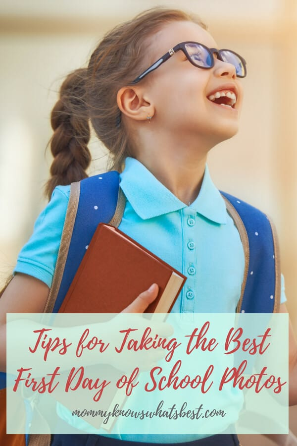 Tips for Taking the Best First Day of School Photos
