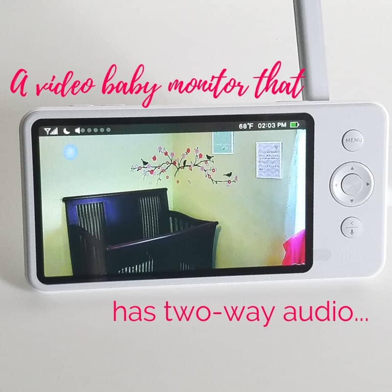 baby video monitor with two way communication
