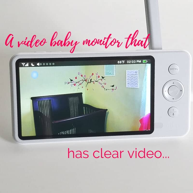video baby monitor with clear video