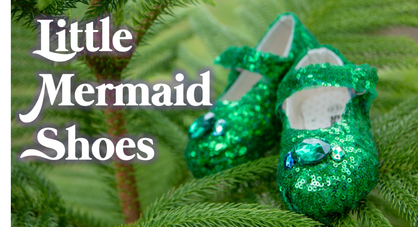 little mermaid shoes diy mommy krystal rhinestone green sequins mesh