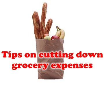 Tips on cutting down grocery expenses