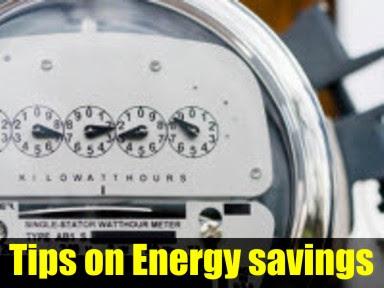 Tips on Energy savings