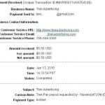 Proof of Payment fromTrekPay