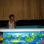 New Inflatable Pool doubles as a Crib for my son!