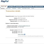 Proof of Payment from Ask2Link (July 2010)