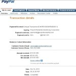Proof of payment from Project Wonderful