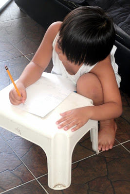He's learning to study by himself