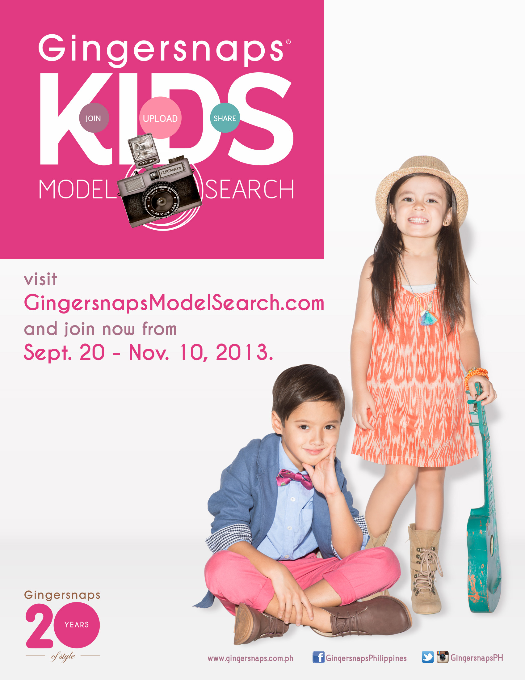 Gingersnaps is looking for kids to become a model