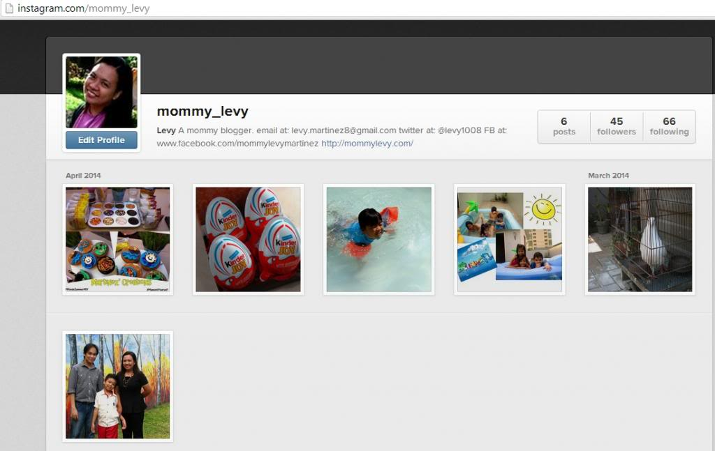 Mommy Levy is now on Instagram