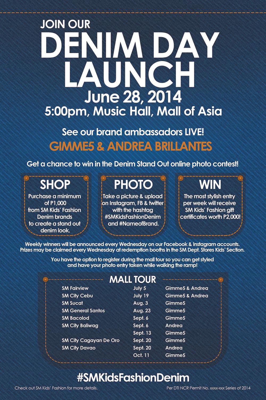 SM Kids' Fashion Denim Announcement Poster