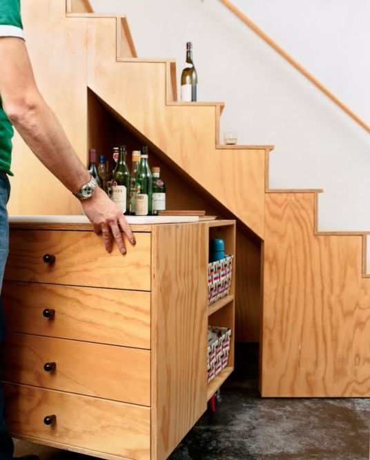 cupboard-under-stairs-with-home-bar-idea-for-chic-look