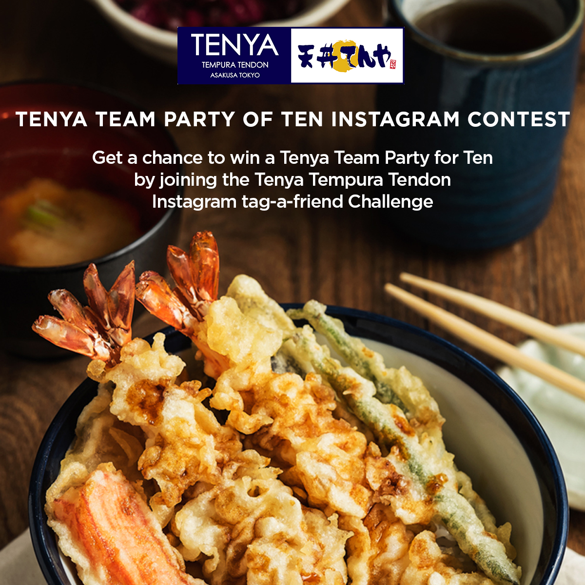 Get a Chance to Win a Tenya Party for Family and Friends