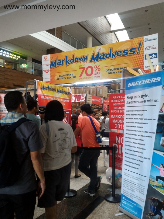 Markdown Madness at Glorietta