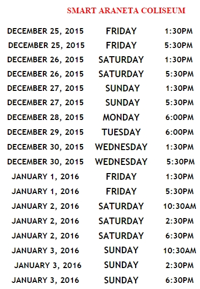 Disney On Ice 2015 Schedule
