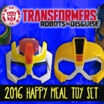 McDonald's Happy Meal Transformers Robots in Disguise Masks 2016