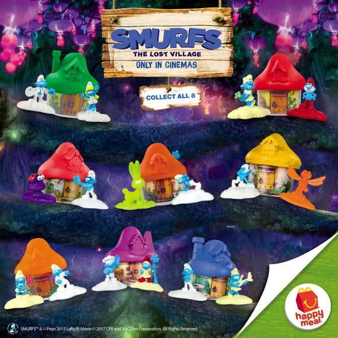 McDonald's Happy Meal 2017 : Smurfs The Lost Village