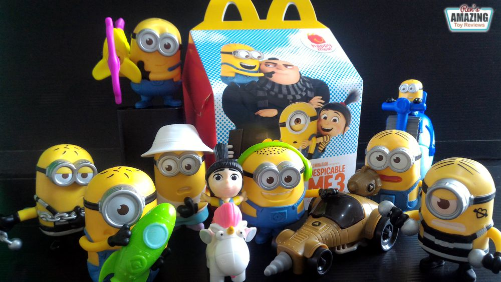 McDonald's Happy Meal: Despicable Me 3 Toy Set Review