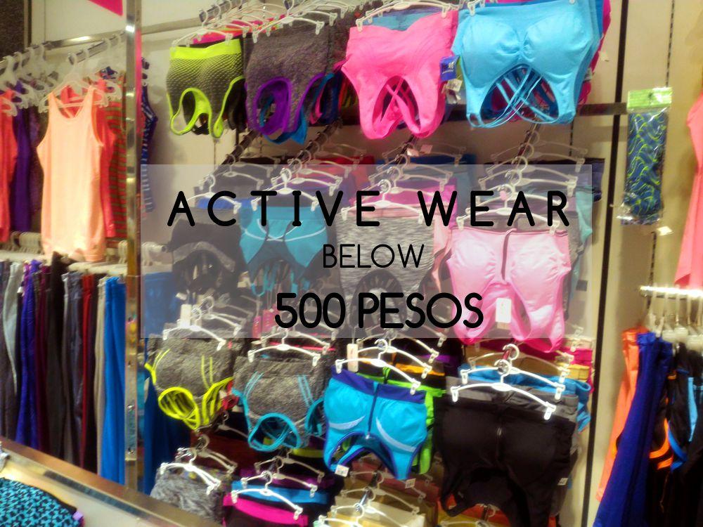 Active Wear Below 500 Pesos