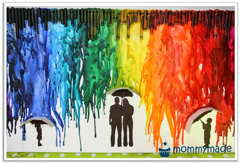 Crayon Experimente 4 Regenbogenregen Mommymade