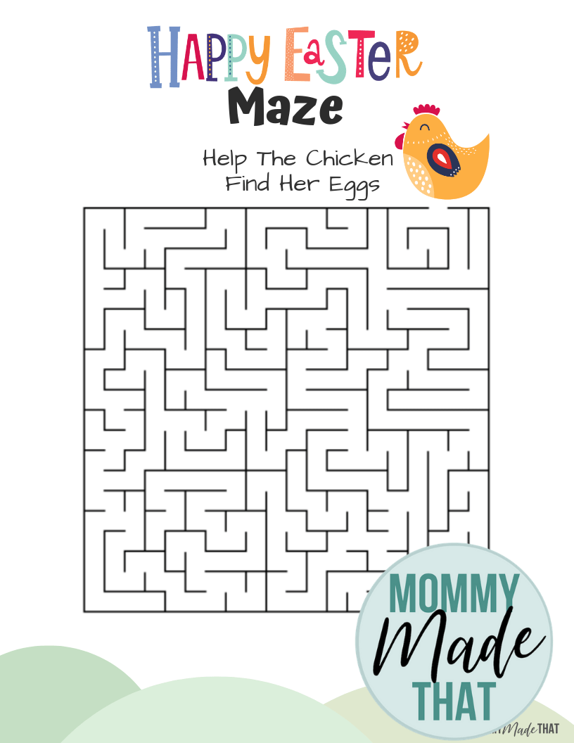 Easter Printable Maze Worksheet Mommy Made That