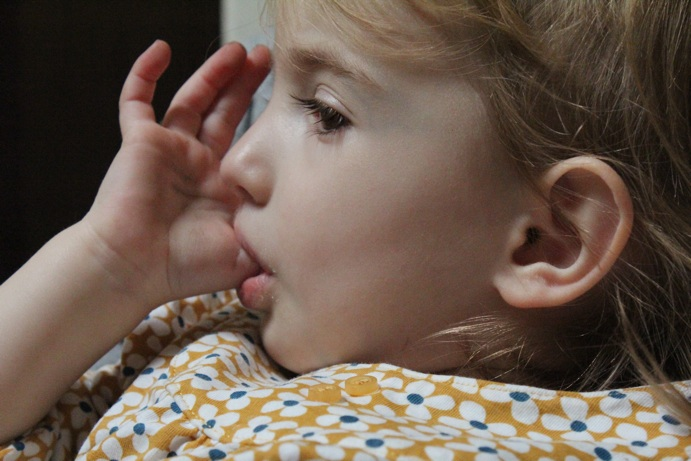 How do I get my three-year-old to stop sucking her thumb?