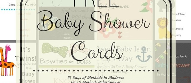Day 3 Method: Baby Shower
