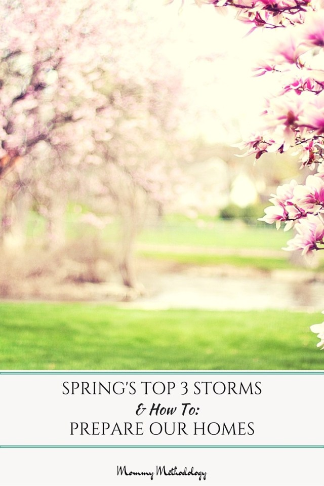 Spring's Top 3 Storms and How To Prepare Our Homes | Spring! Along with it comes unstable weather patterns causing heavy rain, high winds, hail. Consider how to prepare our homes for 3 types of Spring storms.