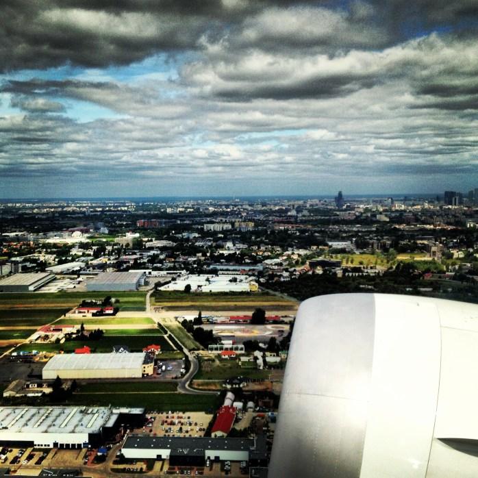 Aerial View: Warsaw, Poland