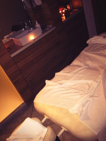 One of the massage rooms in the Spa