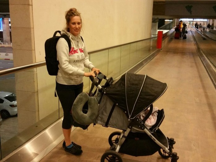 Baby Stroller in Airport