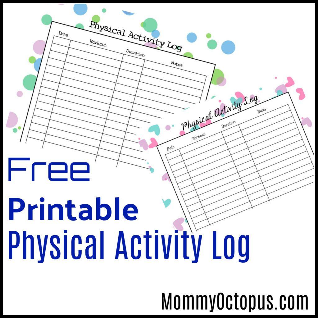 Free Printable Physical Activity Log