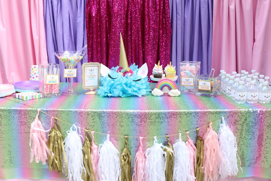 Free Unicorn Birthday Printables ~ How to throw a budget friendly unicorn party in one day