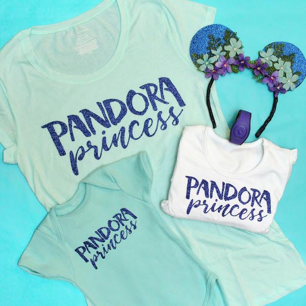 Pandora Princess Shirt DIY Tutorial