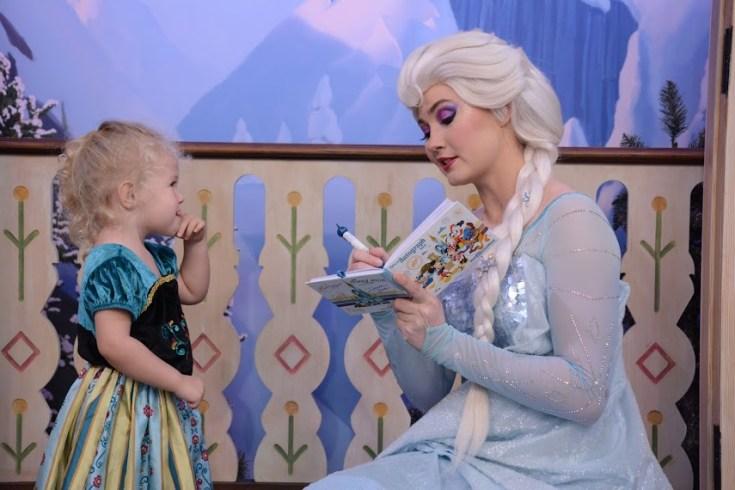 Meeting Elsa at Epcot: Disney World with Preschoolers