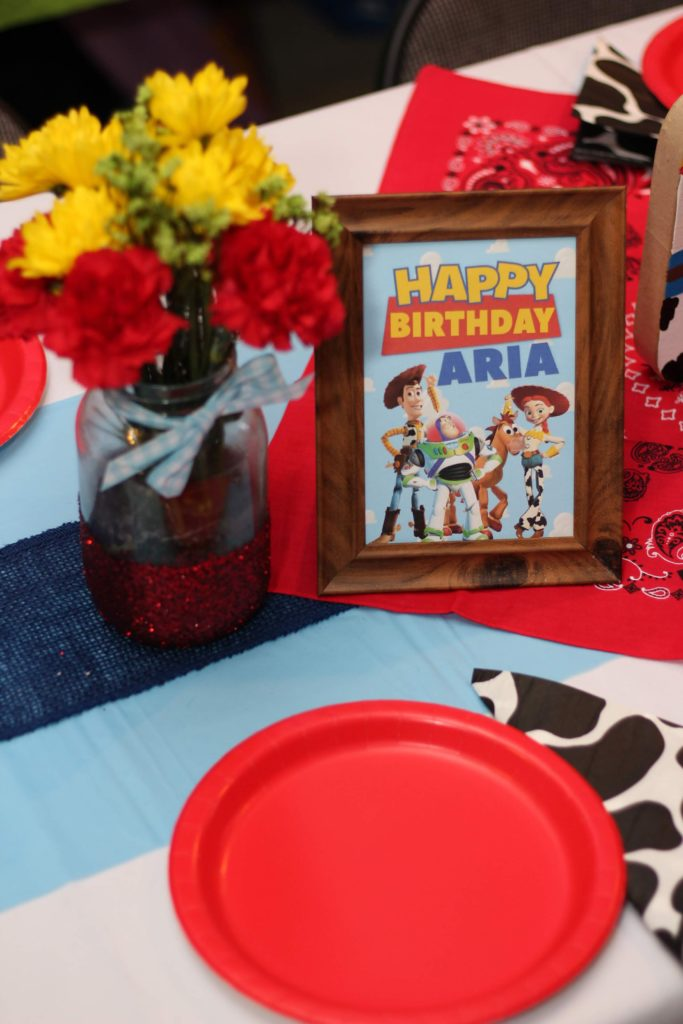 Toy Story Birthday Party Table Centerpiece