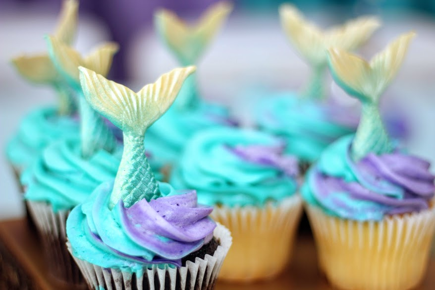 Mermaid Party Ideas Cupcakes
