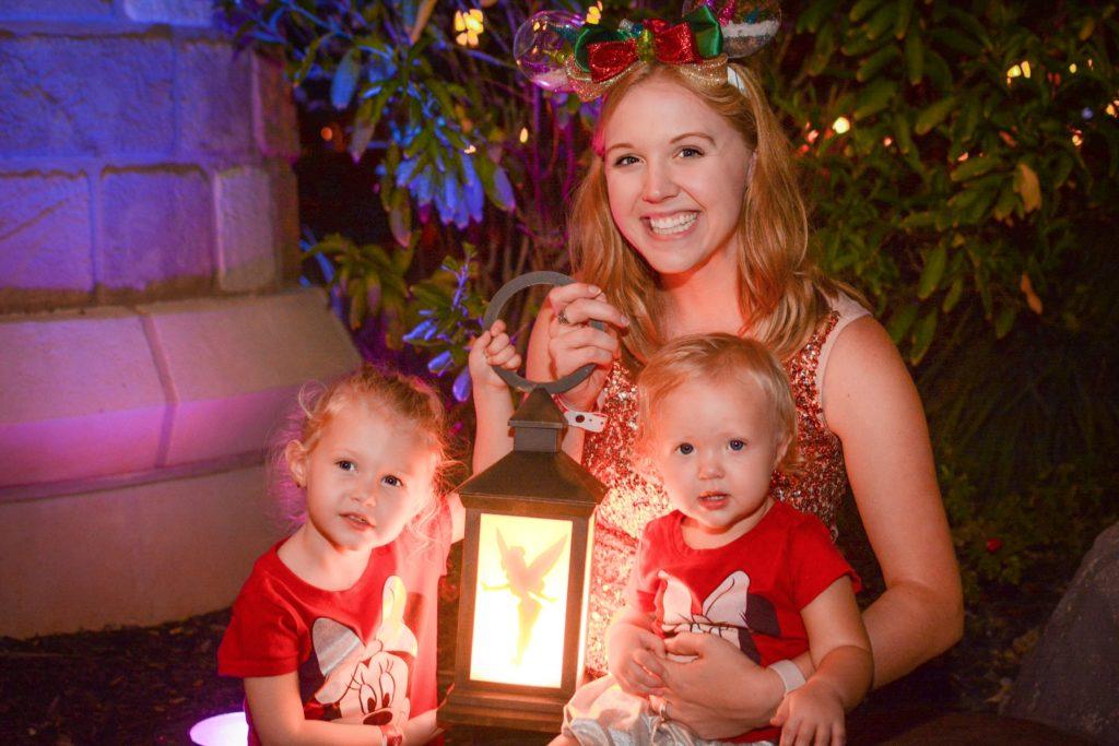 Photo Ops at Christmas Party at Disney World