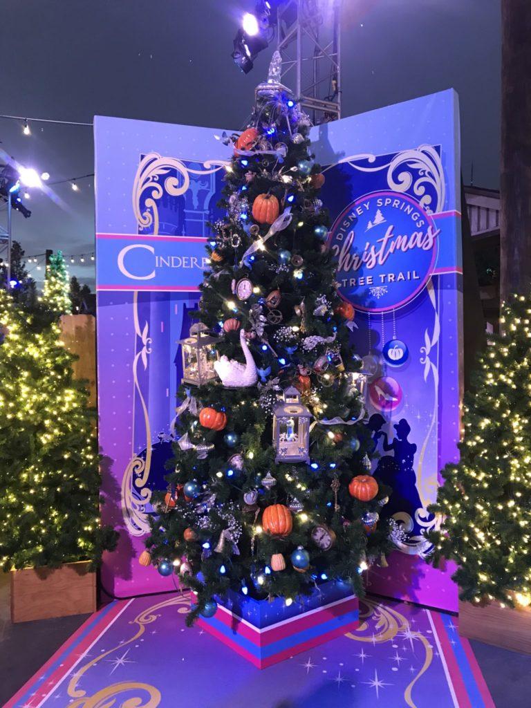 Cinderella Disney Christmas Tree Trail at Disney Springs