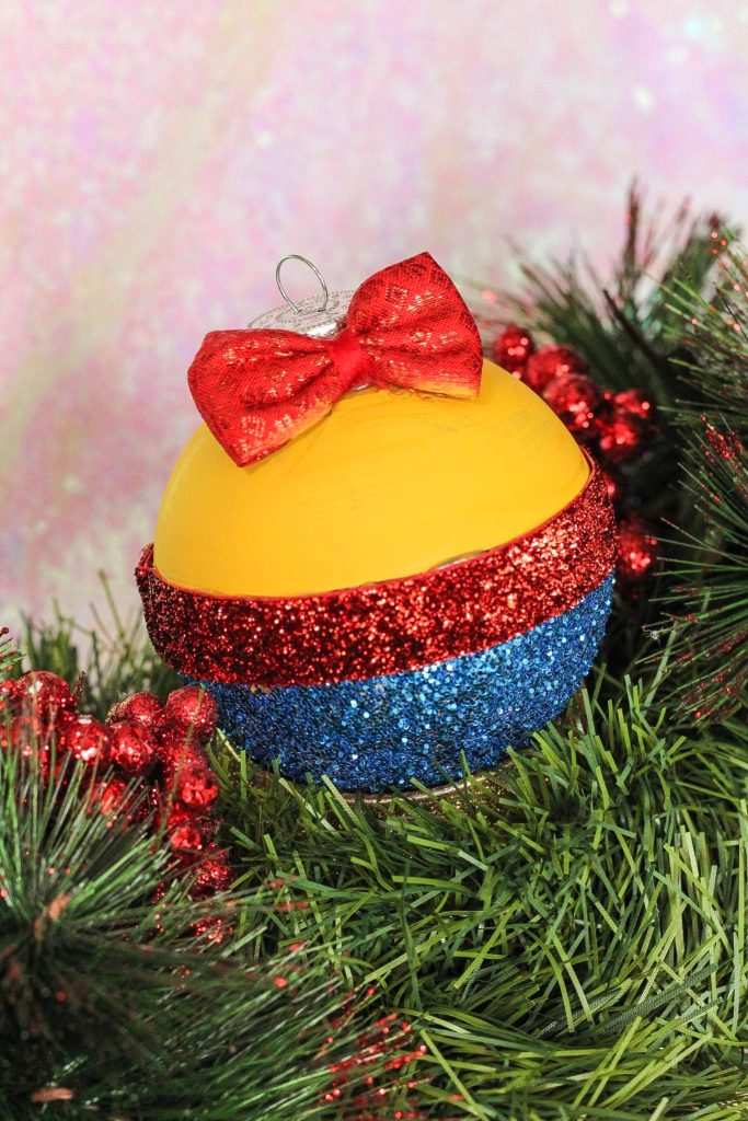 DIY Snow White Christmas Ornament