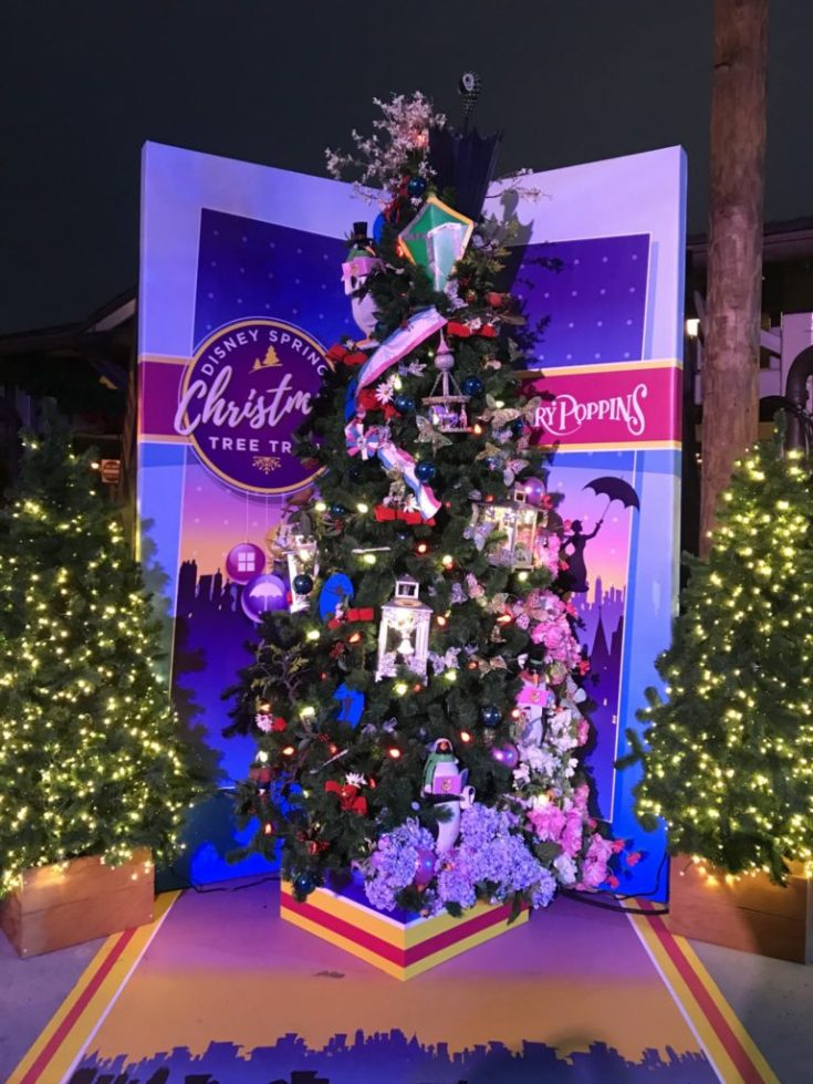 Mary Poppins Disney Christmas Tree Trail at Disney Springs