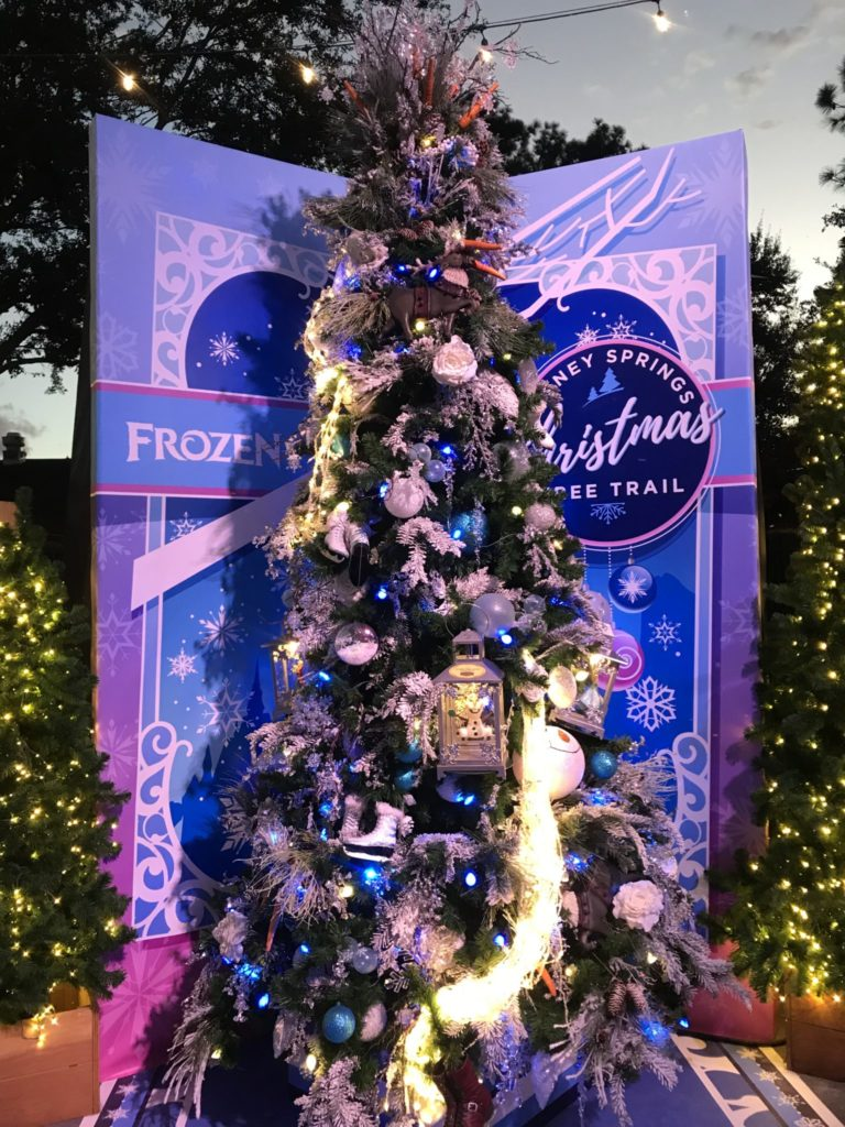 Frozen Disney Christmas Tree Trail at Disney Springs