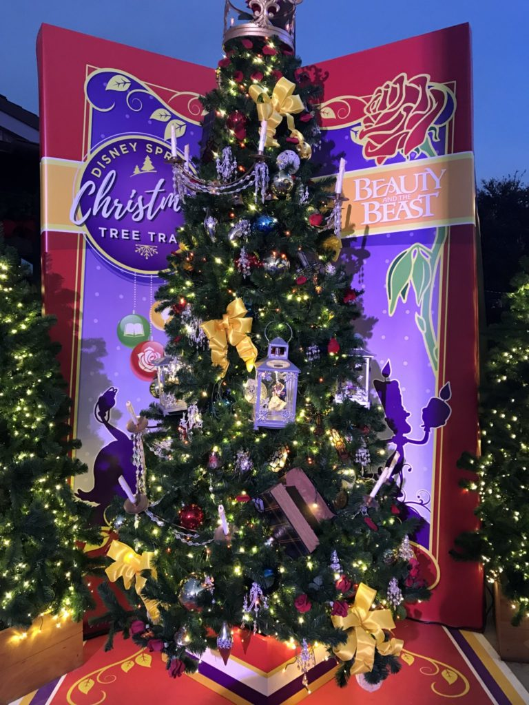 Beauty and the Beast Disney Christmas Tree Trail at Disney Springs